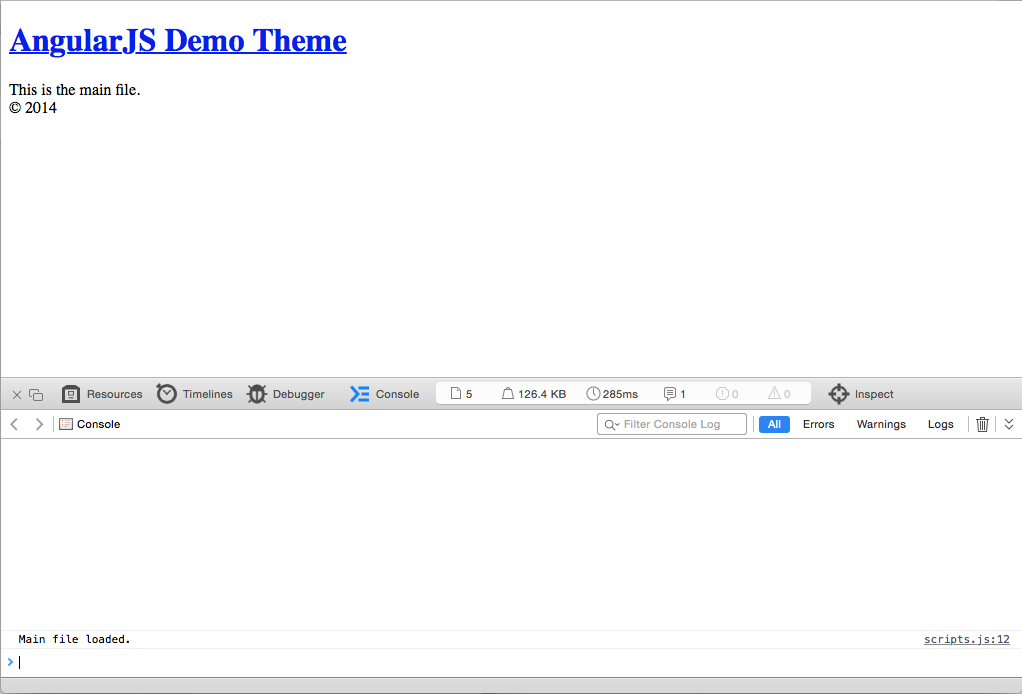 Screenshot 1 from Using AngularJS and JSON API in your WordPress theme
