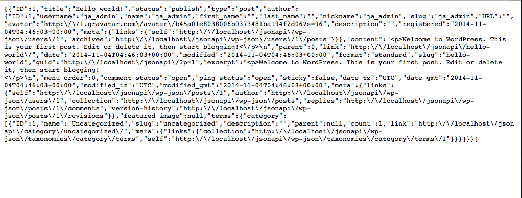 Screenshot from Using AngularJS and JSON API in your WordPress theme